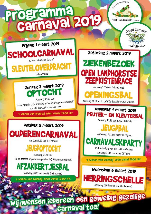Programma Carnaval 2019