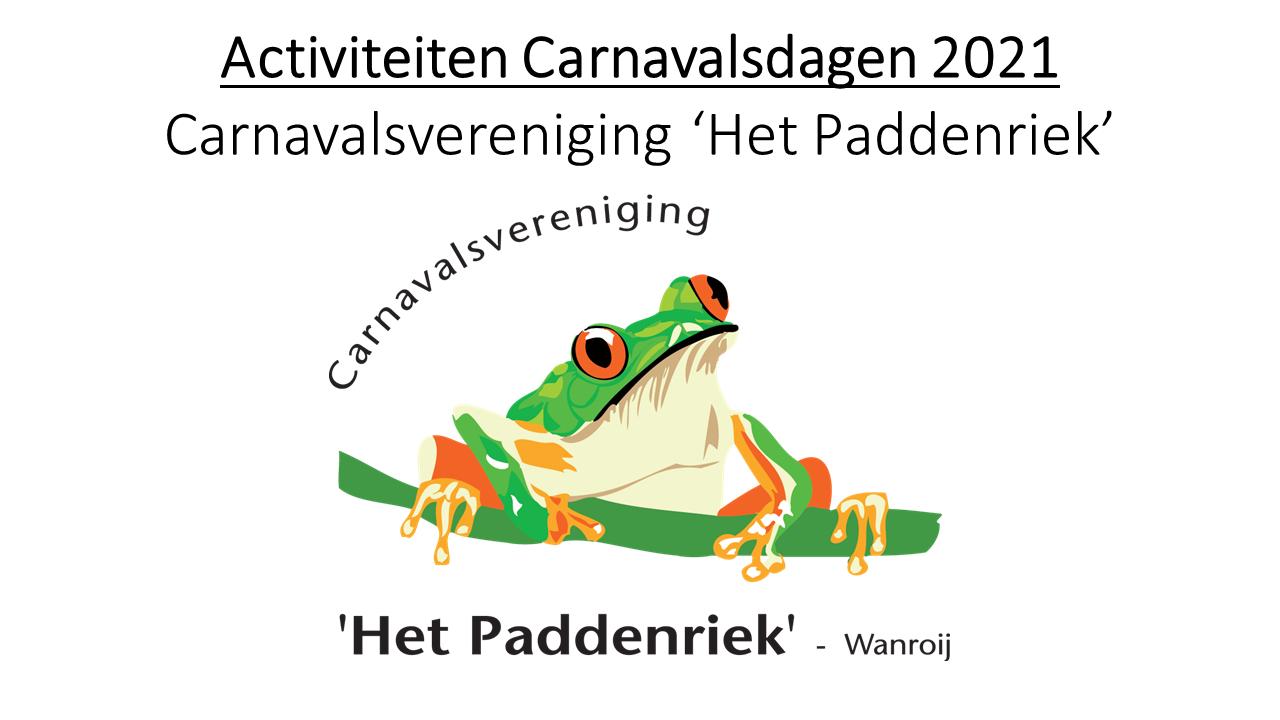Activiteiten Carnavalsdagen